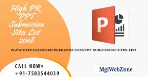 High PR PPT Submission Sites List 2020