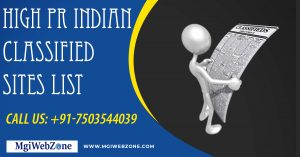 High PR Indian Classified Sites List 2020