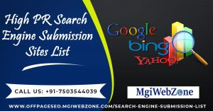 High PR Search Engine Submission Sites List 2020