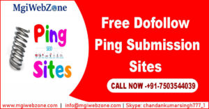 Free Dofollow Ping Submission Sites