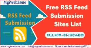 Free RSS Feed Submission Sites List