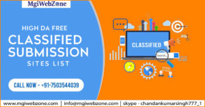High DA Free Classified Submission Sites List