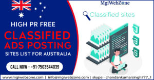 High PR Free Classified Ads Posting Sites List for Australia