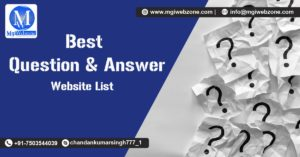 Best Question and Answer Websites List