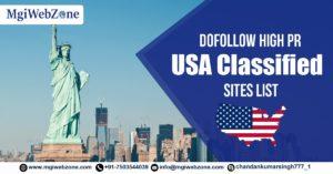 Dofollow High PR USA Classified Sites List