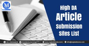 High DA Article Submission Sites List